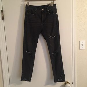 Free People black ripped skinny jeans size 27